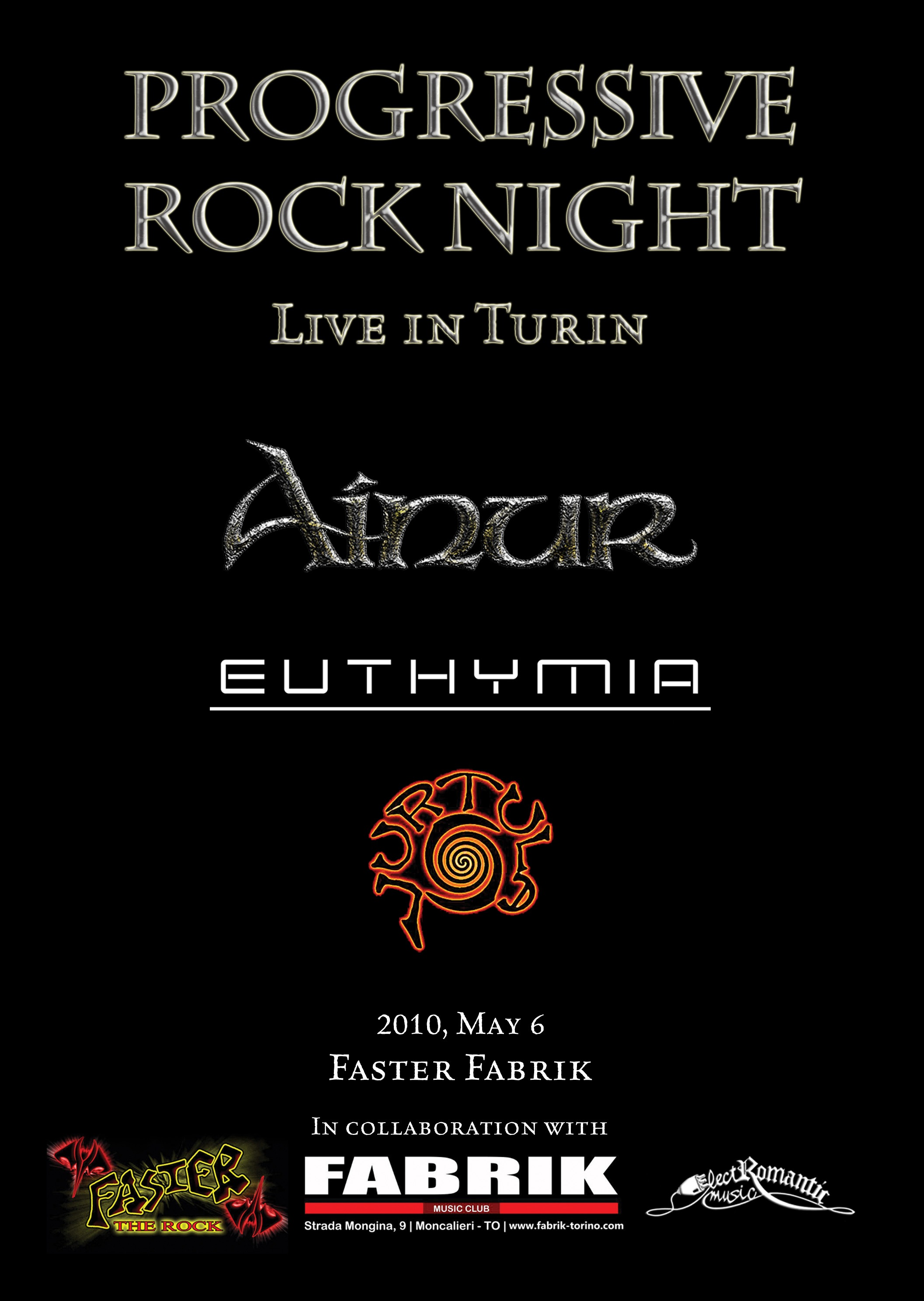 AINUR/EUTHYMIA/VURTULA - PROGRESSIVE ROCK NIGHT - Live in Turin